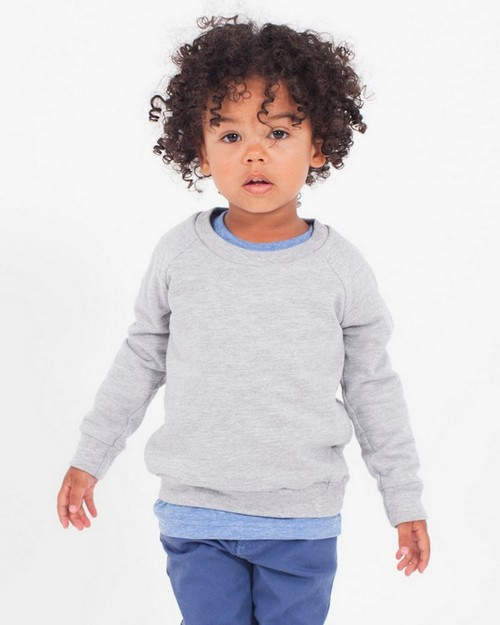 American Apparel RSA5154 Drop Ship Toddler California Fleece Long Sleeve Raglan