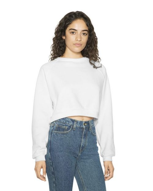 American Apparel RSAF3451W Women's Flex Fleece Raglan Cropped Sweatshirt