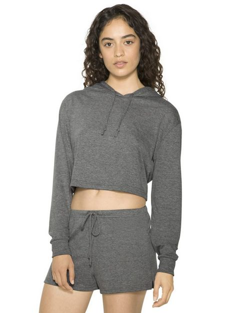 American Apparel RSATR3353W Women's Tri-Blend Cropped Hoodie