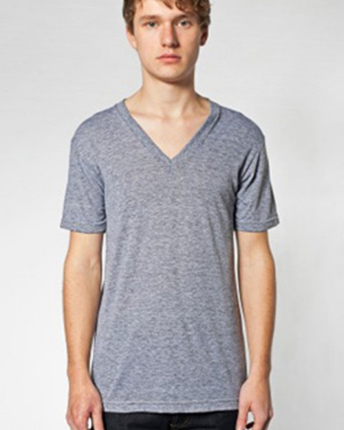 American Apparel S200AM Unisex Tri-Blend V Neck Tee