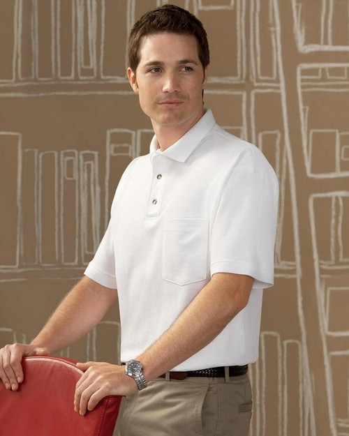 Anvil 6003 Ring Spun Polo with Pocket