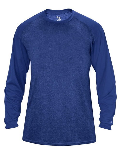 Badger 4305 Tonal Sport Heather L/S Tee