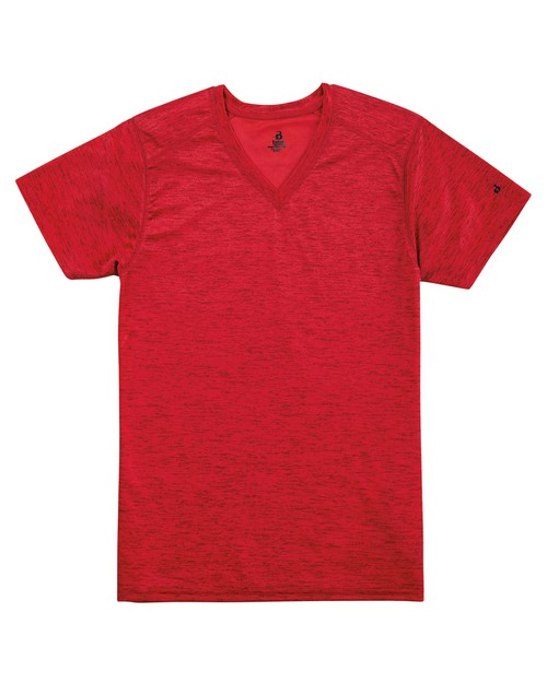Badger BD4175 Ladies Tonal Blend V-Neck Tee