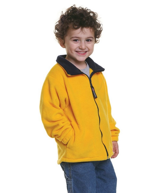 Bayside 1115 Youth Full Zip Fleece Jacket