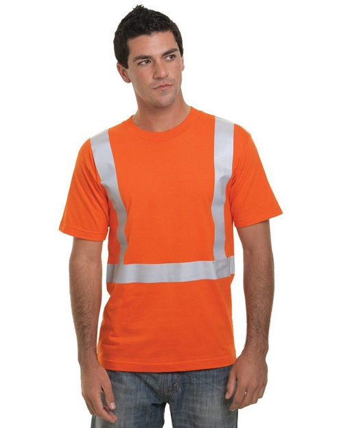 Bayside 3751 Mens USA Made High Visibility Short Sleeve T-Shirt