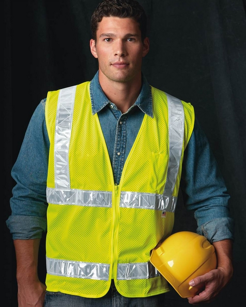Bayside 3785 USA Made Mesh Safety Vest