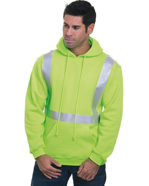 Bayside 3796 Hi-Visibility Hooded Pullover Fleece
