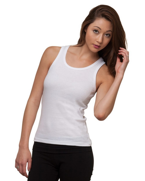 Bayside 4569 Womens 2x1 Ribbed Tank Top