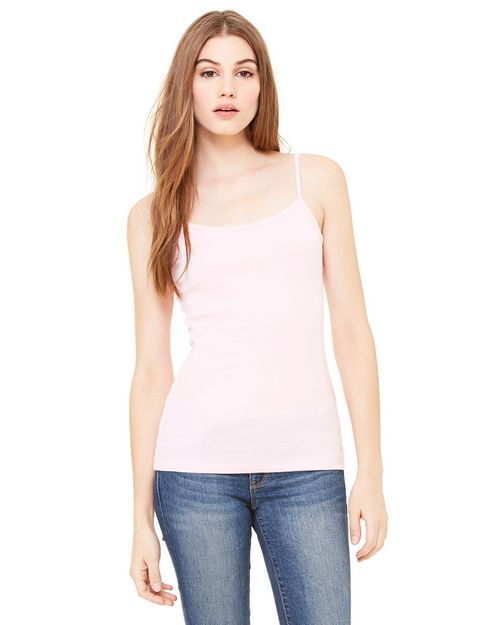 Bella + Canvas 1011 Ladies' Stretch Rib Spaghetti Strap Tank
