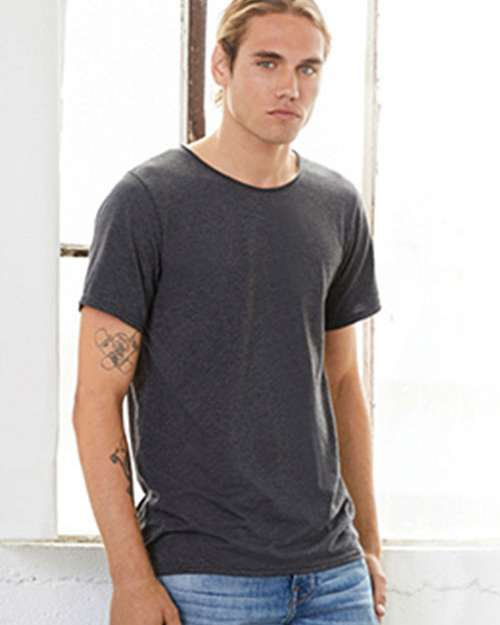 Bella + Canvas C3014 Mens Jersey Raw Neck T-Shirt