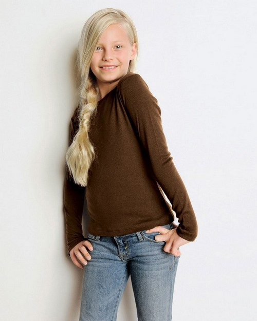 Bella + Canvas 9501 Girl's 5.8 oz. 1x1 Baby Rib Long-Sleeve T-Shirt