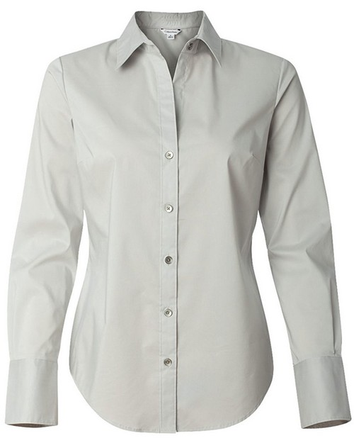 Calvin Klein 13CK018 Womens Long Sleeve Cotton Stretch Dress Shirt