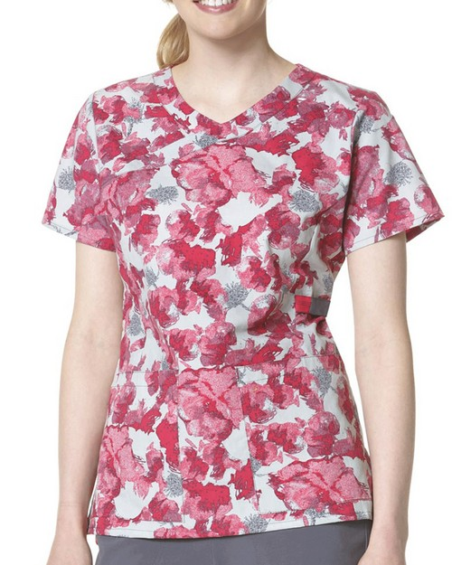 Carhartt C12207 Women's Printed Y-Neck Fashion Top