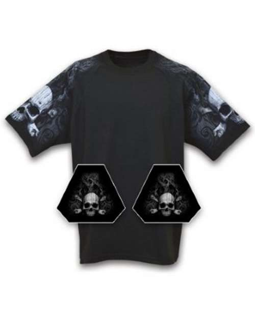 Everyday Life 10047 Mens Skull & Crossbones Theme Print Tee