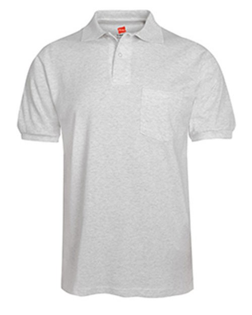 Hanes 504 Adult Comfortblend Eco smart Jersey Pocket Polo Shirt