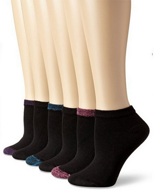 Hanes 680 Womens Cushion Low Cut Socks (Pack of 6)