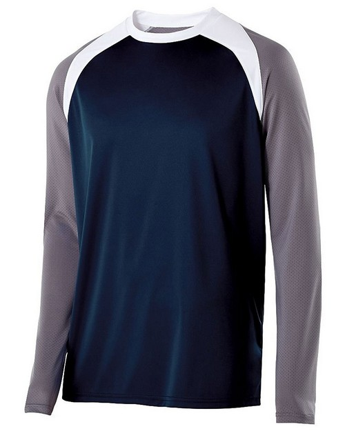 Holloway 222504 Adult Polyester Long Sleeve Shield Shirt
