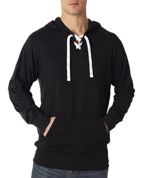 J America Adult Comfortable Sport Lace Hooded Sweatshirt