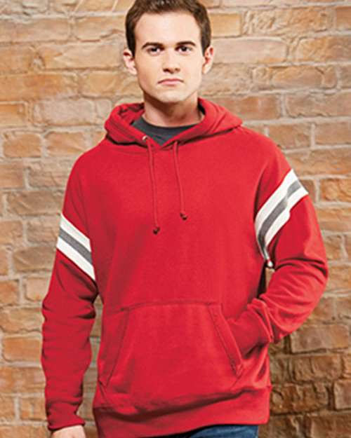 J America J8847 Mens Vintage Athletic Hooded Pullover