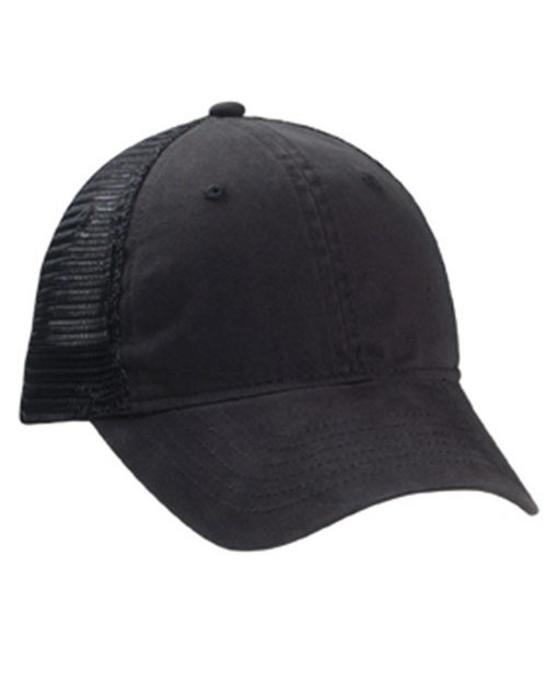 Kc Caps KC8410 Solid Bio-Washed Trucker Cap