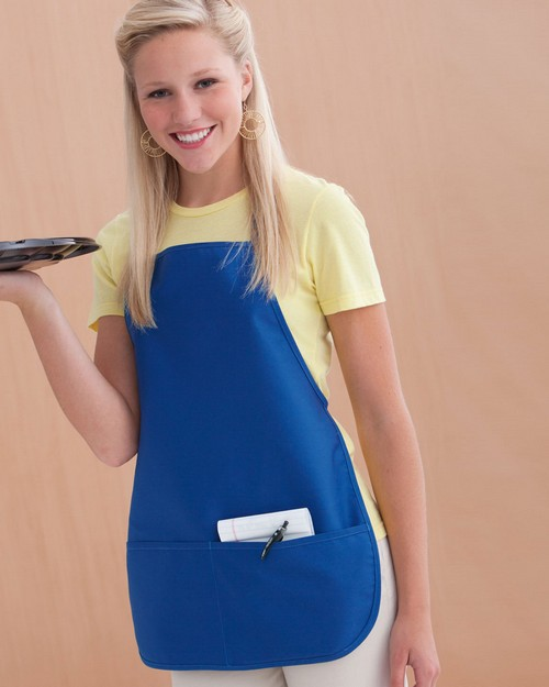 Kc Caps KC9324 Large Two Pocket Bib Apron