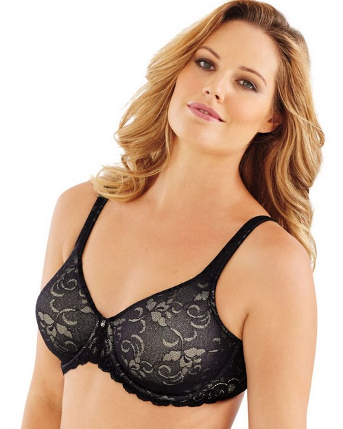 Lilyette LY0977 Beautiful Support Lace Minimizer