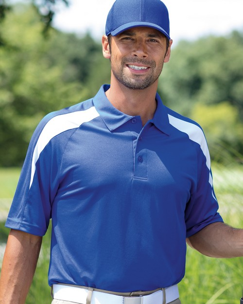 Paragon 105 Mens Contrast Insert Performance Polo