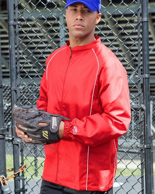 Rawlings RP9760 Adult Full-Zip Polyester Dobby Jacket