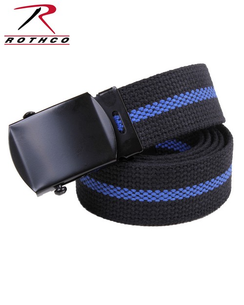 Rothco 4636 Thin Blue Line Web Belt