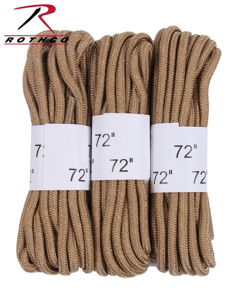 Rothco 6017 72 Boot Laces - 3 Pack