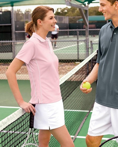 Sport-Tek L467 Ladies Dri-Mesh Polo with Tipped Collar and Piping by Port Authority