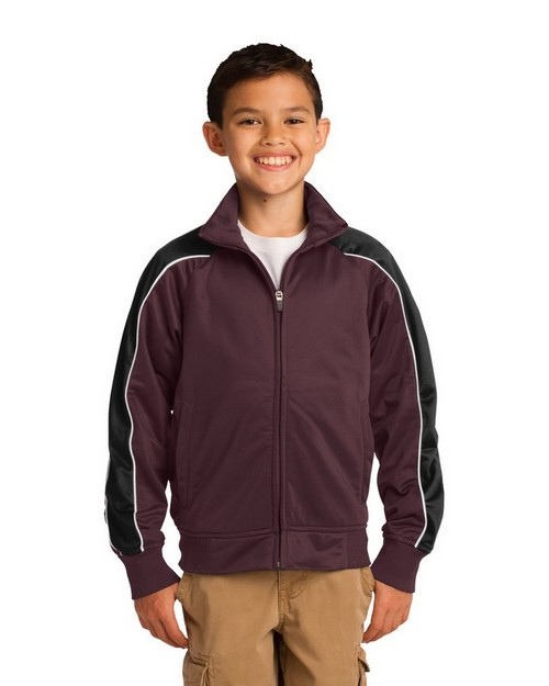 Sport-Tek YST92 Youth Piped Tricot Track Jacket by Port Authority