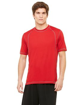 All Sport M1021 Men's 4.1 oz. Short-Sleeve Pieced Interlock T-Shirt