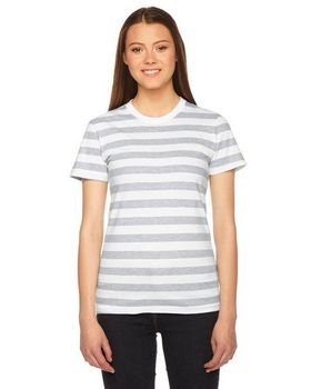 Heather Gray White Stripe