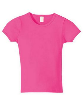 Anvil 1441 Women's Ringspun 1x1 Ribbed Scoop Neck T-Shirt