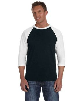 Anvil 2184 Men's Cotton Raglan Baseball T Shirt