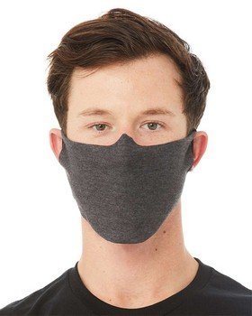Bella + Canvas DFCM Daily Face Cover Mask - Dark Grey Heather - One Size - $1.49