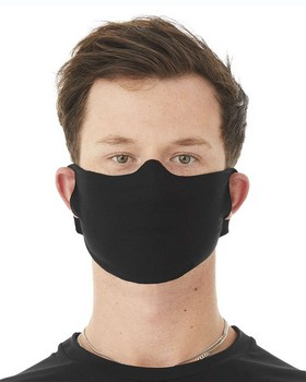 Lightweight Fabric Face Cover Mask - 100% Airlume Cotton - Black - One Size