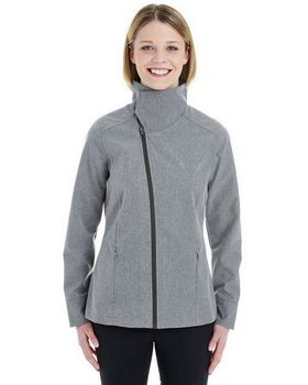 North End NE705W Women's Edge Soft Shell Jacket with Fold-Down Collar