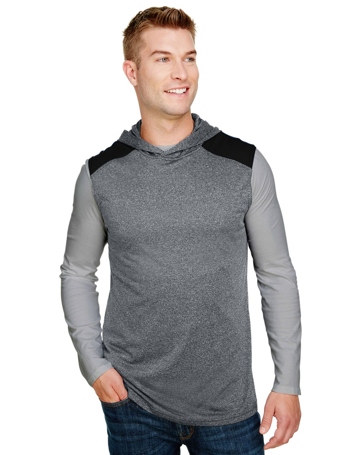 A4 N3031 Men's Tourney-Layering Sleeveless Hoodie