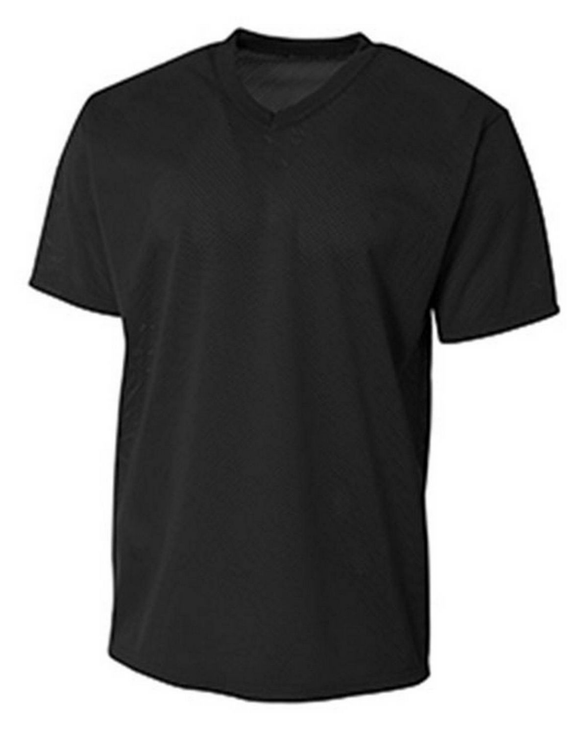 A4 N3364 Men's Polyester Mesh V-Neck T-Shirt