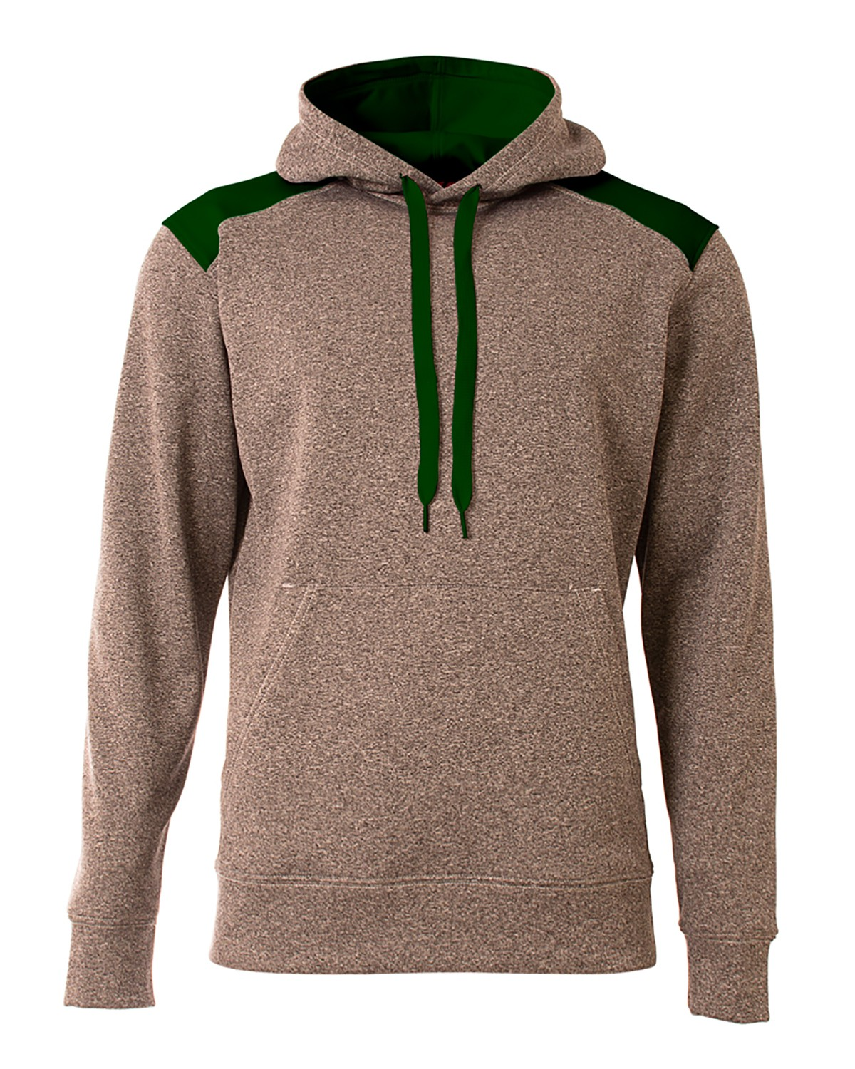 A4 N4093 Men's Tourney Color Block Tech Fleece Hooded Sweatshirt
