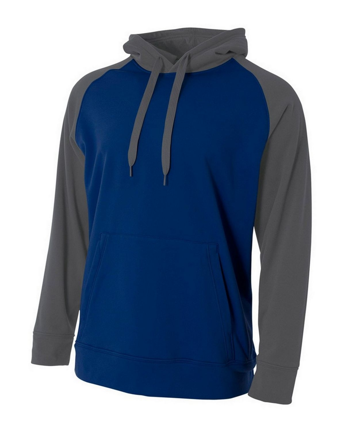 A4 NB4234 Youth Fleece Hoodie - Navy/Graphite - M NB4234