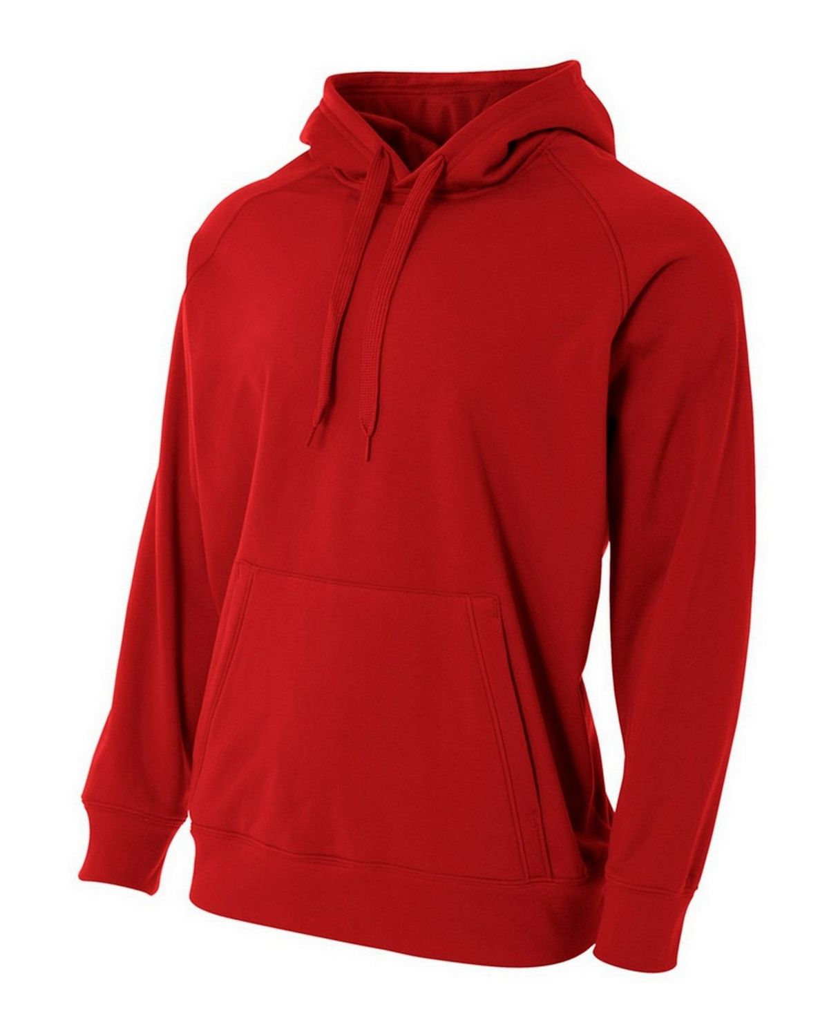 A4 NB4237 Youth Solid Tech Pullover - Scarlet Red - XL NB4237