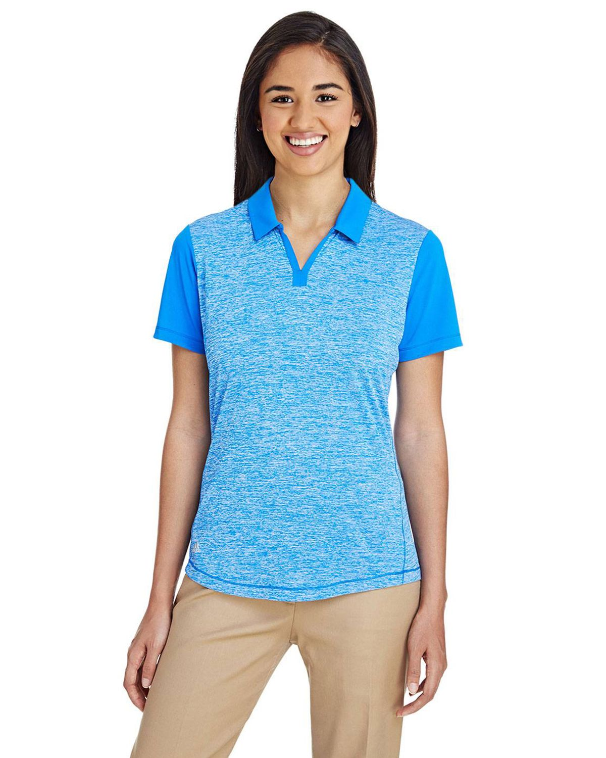 Adidas Golf A146 Women's Heather Block Polo Shirt