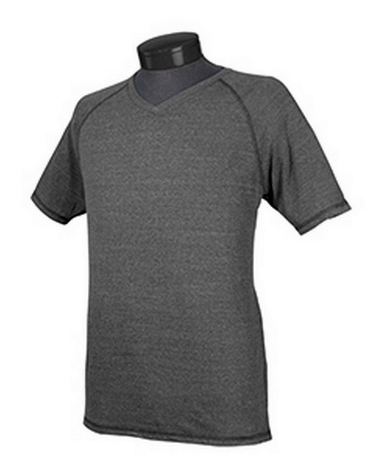 All Sport M1105 Performance Triblend V-Neck T-Shirt - Charcoal Heather Timberland - XL M1105