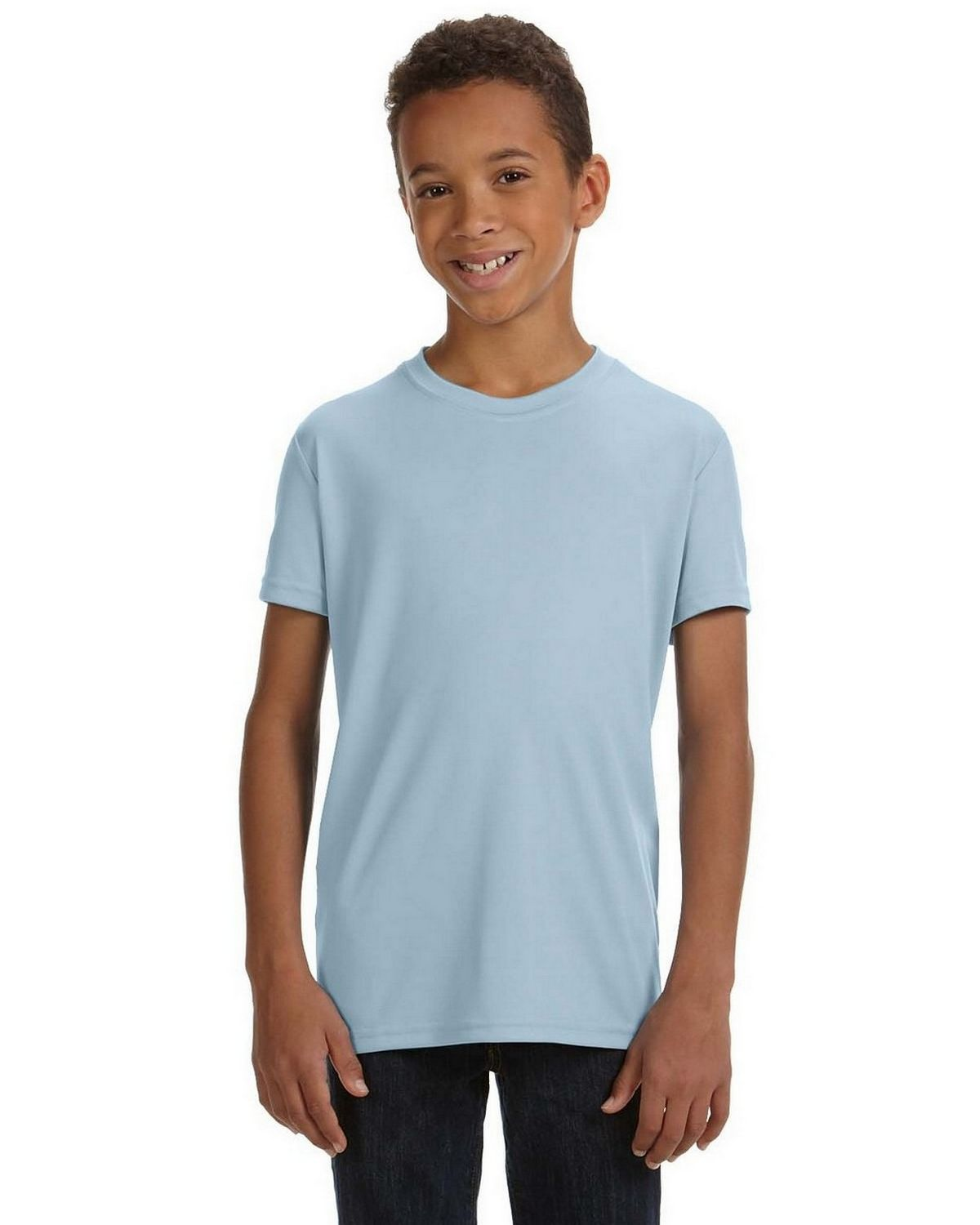 All Sport Y1009 Youth Performance Short Sleeve T Shirt - Sport Light Blue - XS Y1009