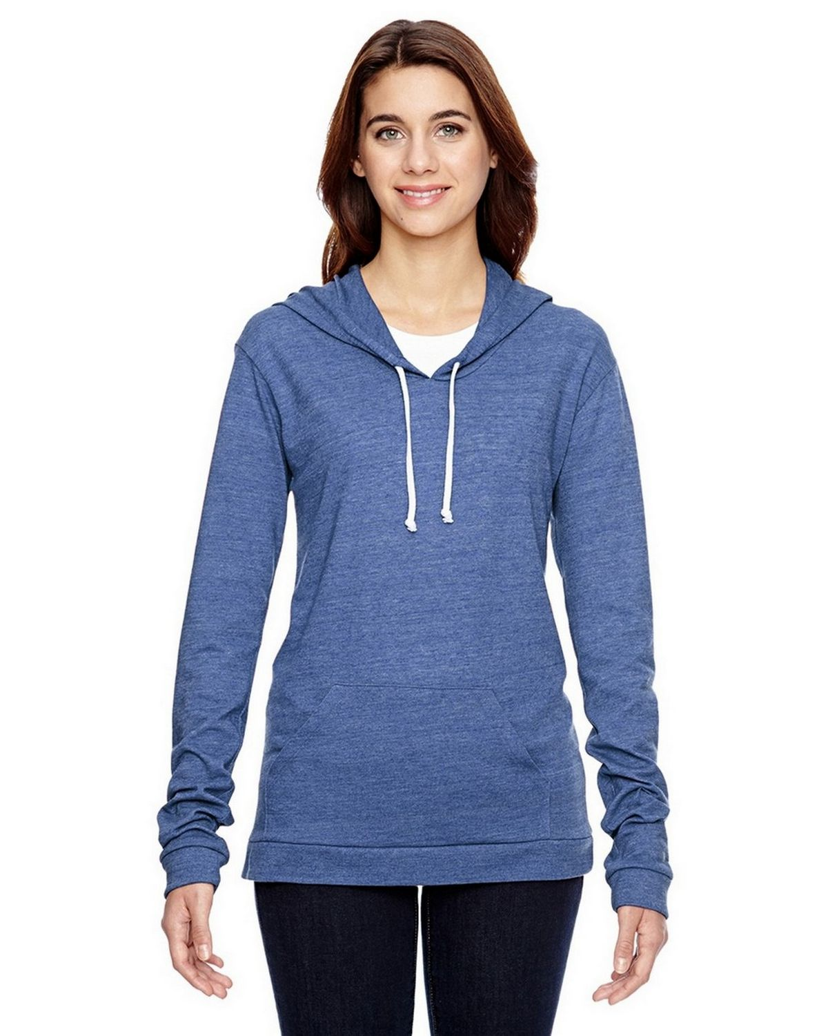 Alternative 01928E1 Classic Pullover Hoodie - Eco Pacific Blue - XL 01928E1