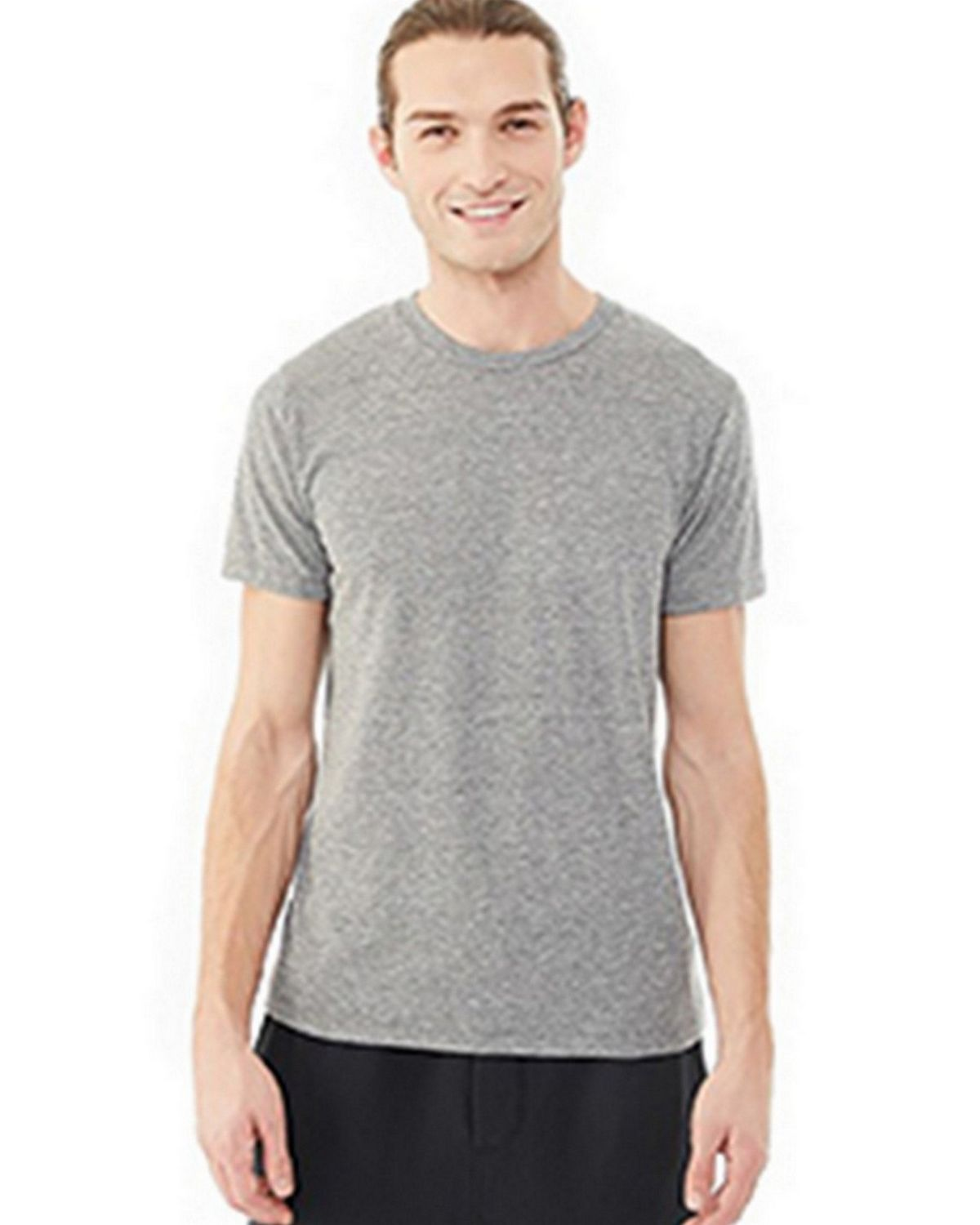 Alternative 01993E1 Men's Drop Neck Eco Jersey Crew T-Shirt