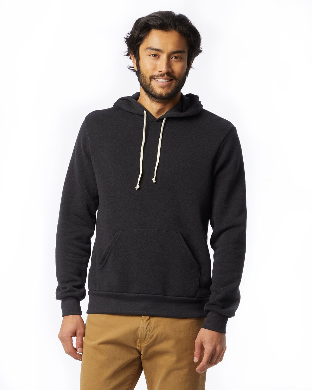 Alternative 09595F2 Hoodlum Pullover Hoodie - Eco Black - L 09595F2